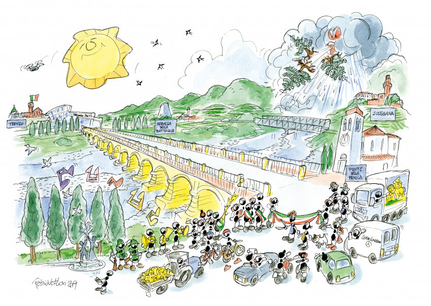 Grande festa a Ponte della Priula oggi.
