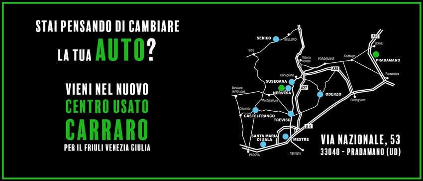 Il centro auto usate Carraro per il Friuli