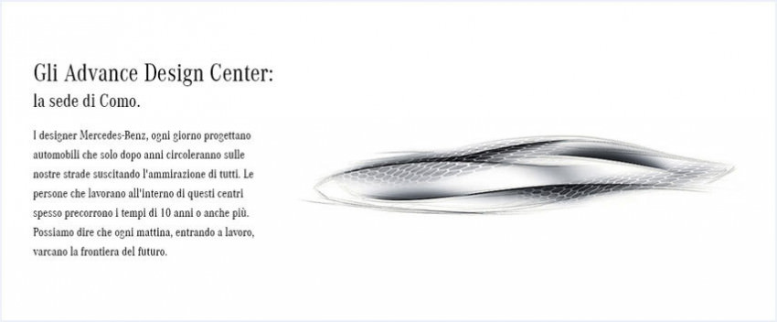 Created by Mercedes-Benz. Gli Advanced Design Studios.