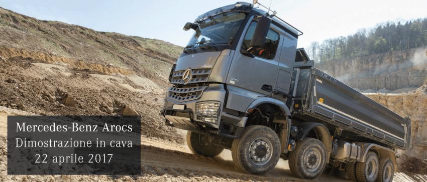 Mercedes-Benz Arocs. Dimostrazione in Cava