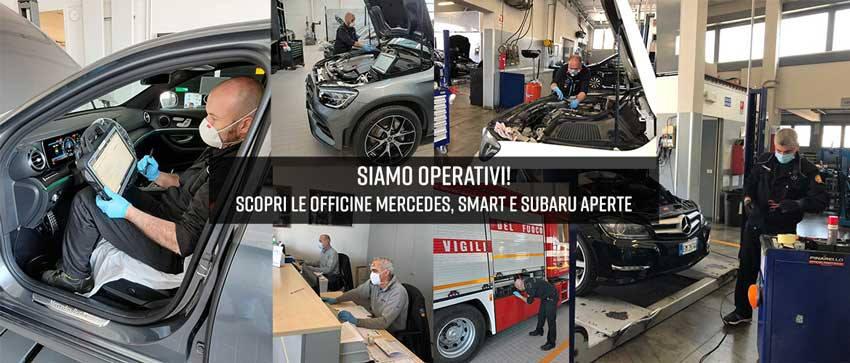 Siamo operativi: scopri le officine Mercedes, smart e Subaru aperte
