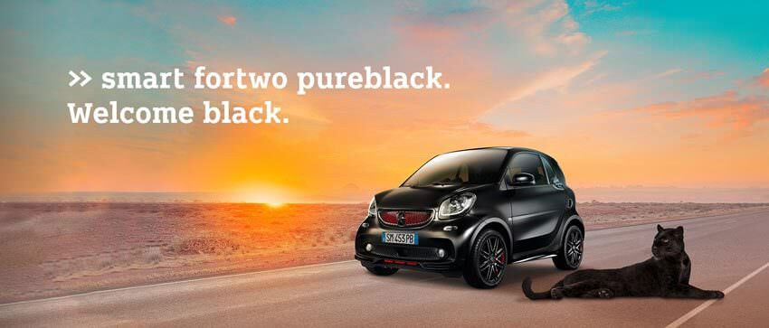 smart fortwo pureblack. Welcome black.