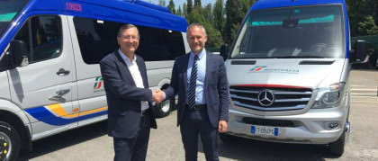 Carraro fornitore ufficiale di Busitalia, società delle FS. Consegnati i primi minibus a Perugia