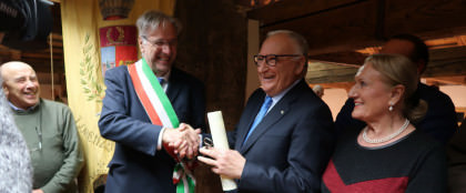 Francesco Carraro cittadino onorario di Lorenzago di Cadore