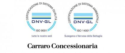 Certificazione alla qualità ISO 9001 e ambientale 14001