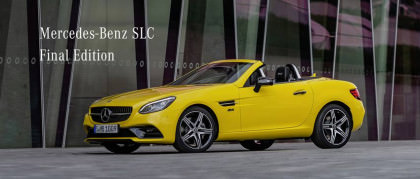 Mercedes-Benz SLC Final Edition: LA roadster
