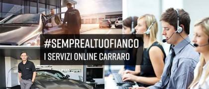 #semprealtuofianco: i servizi online Carraro