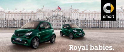 Smart british green. Welcome Royal baby.