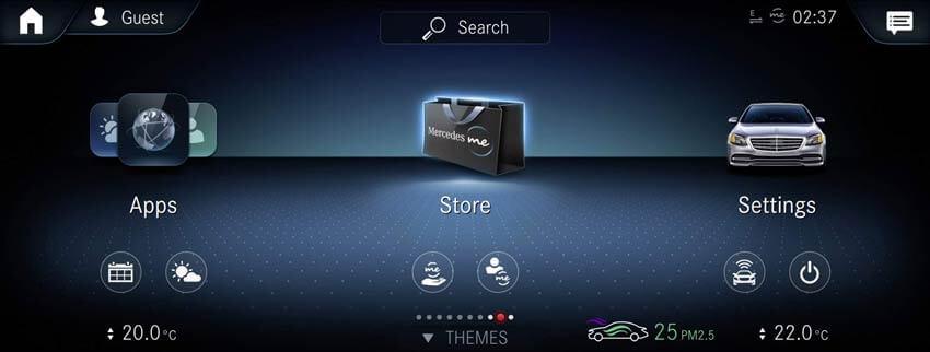 Equipaggiamenti on-demand MBUX e Mercedes Me Store