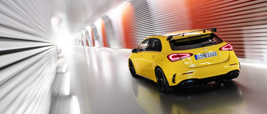 Mercedes A35 AMG posteriore