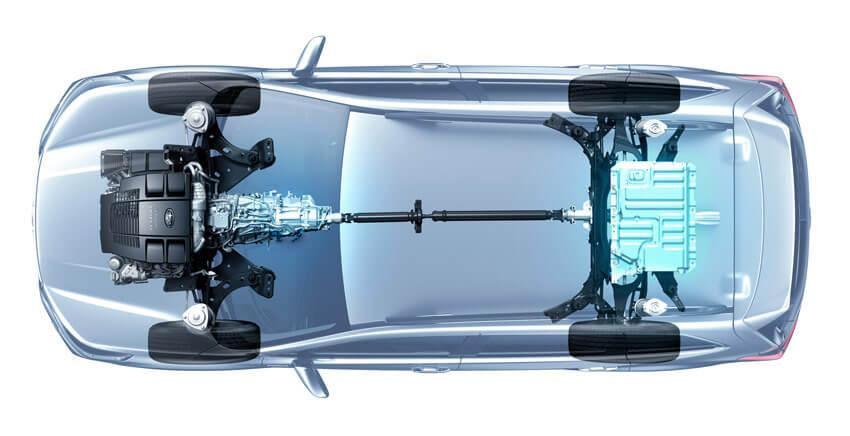 Subaru e-Boxer: distribuzione dei pesi