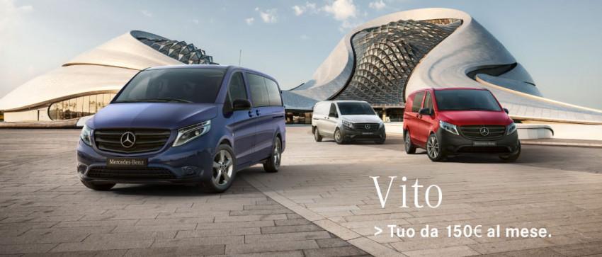 Mercedes-Benz Vito. Tuo da 150€ al mese