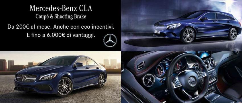 Promozione Mercedes-Benz CLA