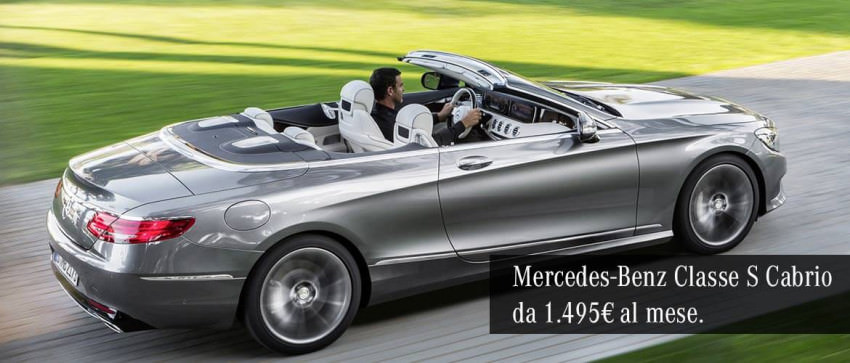 Mercedes-Benz Classe S 500 Cabrio Maximum da 1.495€ al mese