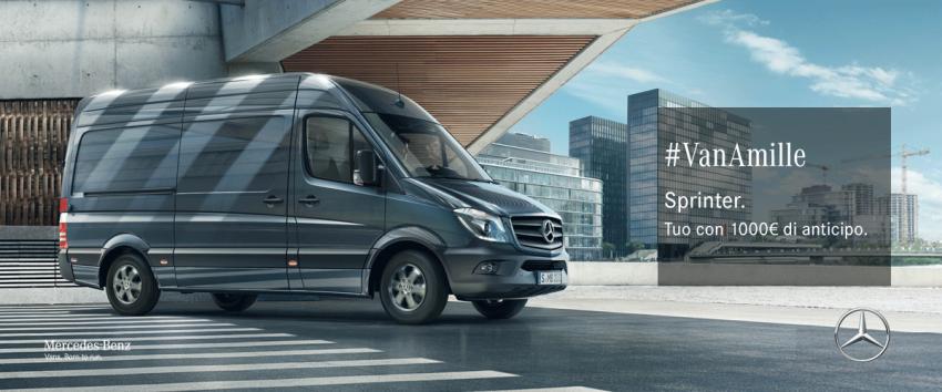 Mercedes-Benz Sprinter. Solo 1000€ di anticipo e 2 anni di RCA inclusi.