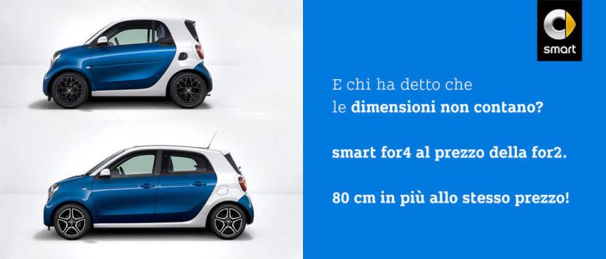 Scopri smart for4 al prezzo di smart for2