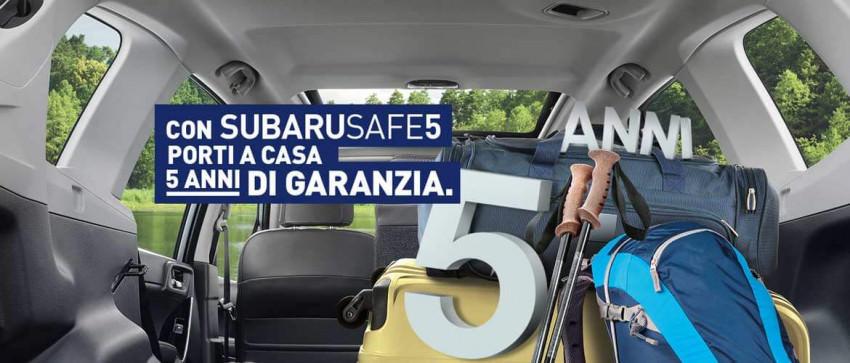 Gamma Subaru con 5 anni di garanzia inclusi nel prezzo.