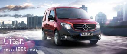 Mercedes-Benz Citan, tuo da 100€ al mese
