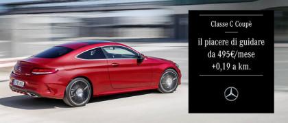 Guida la nuova Classe C Coupé da 495€ al mese con il nuovo dynamic lease