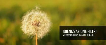 Igienizzazione abitacolo Mercedes-Benz, smart e Subaru