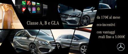Promozione Mercedes-Benz Classe A, B e GLA