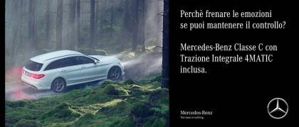 Mercedes-Benz Classe C con trazione integrale 4MATIC inclusa nel prezzo