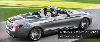 Mercedes-Benz Classe S 500 Cabrio Maximum da 1.495€ al mese