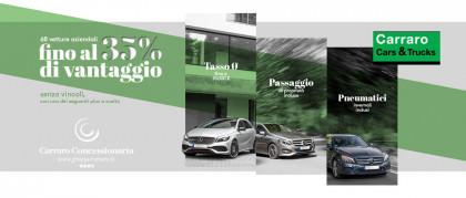 68 vetture aziendali con un vantaggio che arriva fino al 35%.