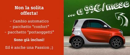 #Smartchepassion! Tua A 99€ Al Mese*