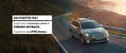 Subaru Outback per chi ha Partita IVA da 499€/mese