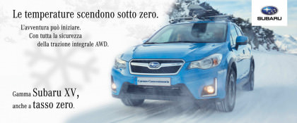 Subaru XV Anche A Tasso Zero. L'avventura Può Iniziare.