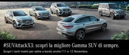 #SUVAttackX3: moltiplica X3 i motivi per salire a bordo della gamma SUV Mercedes-Benz