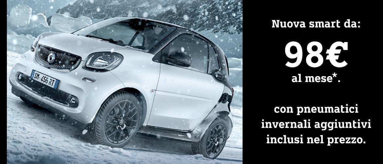 Smart Forfour con pneumatici invernali inclusi